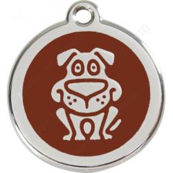 Médailles Identité Marron Chocolat Chien Rigolo Chien et Chat