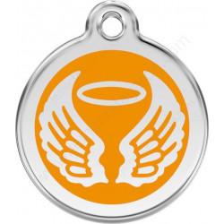 Médailles Identité Ailes d'Ange Orange chien et chat