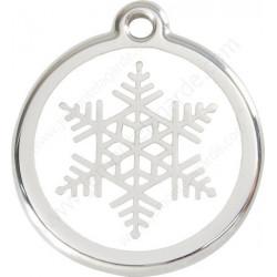 Médailles Identité Flocon Neige Blanc chien Chat