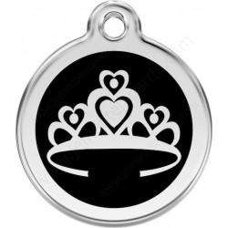 Médaille Couronne de Princesse Noire chien chat