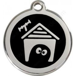 Médailles Niche Noir Onyx chien ou Chat