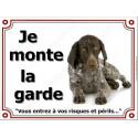 Plaque 4 Tailles LUXE Je Monte la Garde, Braque Allemand
