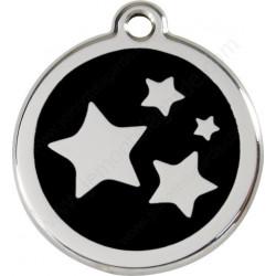 Médailles Identité Etoiles Ciel Noir Onyx chien et chat
