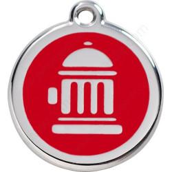 Médailles Identité Borne à Incendie Rouge chien et chat