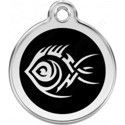 Médailles Identité Tatoo Tribal noir Chien ou Chat