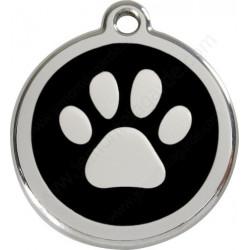 Médailles Identité Noire Coup de Patte Chien et Chat (gravée avec anneau)