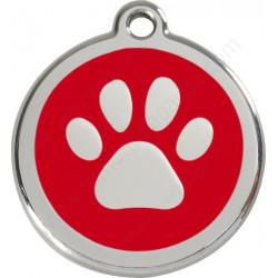 Médailles Identité Coup de Patte Rouge Chien et Chat