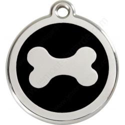 Médailles Identité Os Noir Chien et Chat