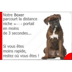 Plaque 24 cm 3SEC, Distance Niche - Portail, Boxer Bringé Assis