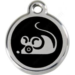 Médailles Identité Souris pour Chats Noir