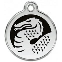Médailles Identité Dragon Noir pour Chiens et Chats