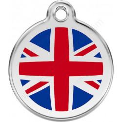 Médailles Identité Drapeau Angleterre chien et chat