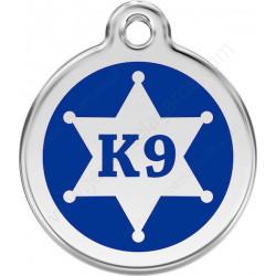Médailles Identité Etoile de Sherif K9 Bleu Foncé pour Chiens et Chats