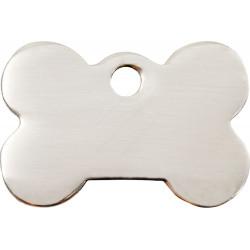 Médailles Identité en forme d'os Chrome pour Chiens Chats - 2 Couleurs