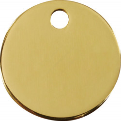 Médailles Identité rondes dorées pour Chiens Chats