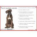 Plaque 24 cm CDT, 8 Souhaits Secrets, Boxer Bringé Assis