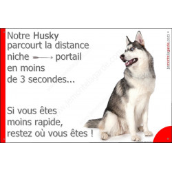 Plaque 24 cm 3SEC, Distance Niche - Portail, Husky Gris Assis