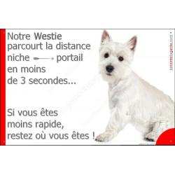 Plaque 24 cm 3SEC, Distance Niche - Portail, Westie Assis