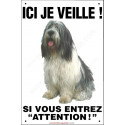 "Nizinny , plaque verticale ""Ici je Veille"" 24 cm ECO"