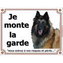 """Tervueren Tête, plaque """"Je Monte la Garde"""" 4 tailles LUX B"""