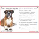 Plaque 24 cm CDT, 8 Souhaits Secrets, Boxer Fauve Couché