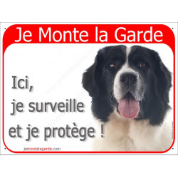 """Landseer Tête, plaque rouge """"Je Monte la Garde"""" 24 cm RED"""