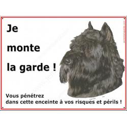 Plaque 2 Tailles ECO Je Monte la Garde, Bouvier des Flandres