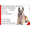 """Laekenois, plaque humour """"distance Niche - Portail"""" 24 cm 3SEC"""