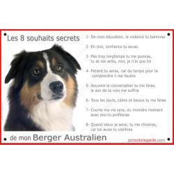 """Aussie Tricolore, plaque """"Les 8 Souhaits Secrets"""" 24 cm CDT"""