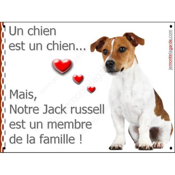 Jack Russell, Plaque Portail un chien est un chien, membre de la famille, pancarte, affiche panneau