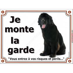 """Terre Neuve, plaque portail """"Je Monte la Garde"""" 2 tailles Lux C"""