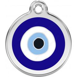 Médaille identité Bijou oeil bleu pour Chiens et Chats