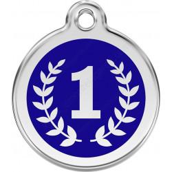 Médaille identité Champion N°1 bleu pour Chiens et Chats