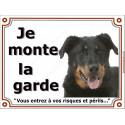 """Beauceron Tête plaque """"Je Monte la Garde"""" 4 tailles LUX B"""