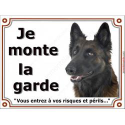 """Tervueren Tête, plaque """"Je Monte la Garde"""" 2 tailles LUX A"""