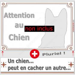 "Jack Russell, plaque ""Attention au Chien"" 2 tailles LUX C"