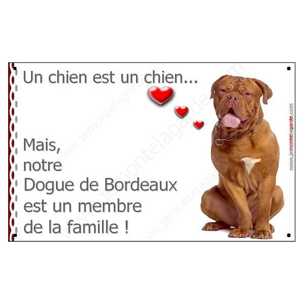 Dogue de Bordeaux, Plaque Portail un chien est un chien, membre de la famille, pancarte, affiche panneau