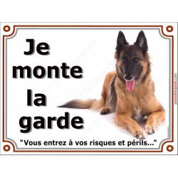 """Tervueren, plaque """"Je Monte la Garde"""" 4 tailles LUXE A"""