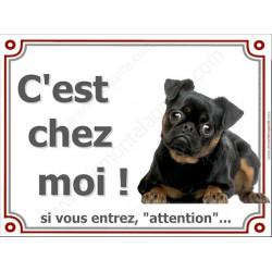 """Brabançon, plaque portail """"C'est Chez Moi !"""" 4 tailles A"""