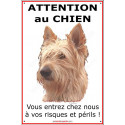 "Berger Picard, plaque ""Attention au Chien"" 24 cm ECO"