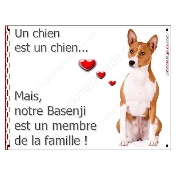 Basenji, Plaque Portail un chien est un chien, membre de la famille, pancarte, affiche panneau