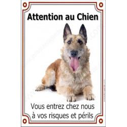 """Laekenois, plaque verticale """"Attention au Chien"""" 24 cm VL"""