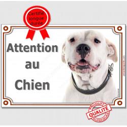 """Dogue Argentin Tête, plaque """"Je Monte la Garde"""" 4 tailles LUX B"""