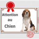 """Beagle Assis, plaque portail """"Attention au Chien"""" 2 Tailles LUX A"""