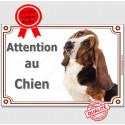 """Basset Hound, plaque """"Attention au Chien"""" 2 tailles LUX B"""
