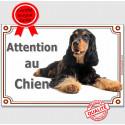 """Cocker Anglais, plaque """"Attention au Chien"""" 24 cm LUX A"""