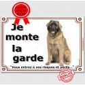 """Leonberg, plaque portail """"Je Monte la Garde"""" 24 cm LUX C"""