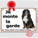"""Bouvier Bernois, plaque """"Je Monte la Garde"""" 2 tailles LUX C"""