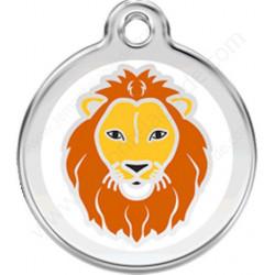 Médaille Identité Lion pour Chiens et Chats, médaillon gravé métal