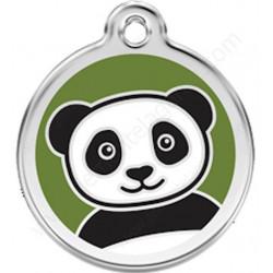 Médaille Identité Panda pour Chiens et Chats, médaillon sécurité gravé avec son nom numéro de téléphone